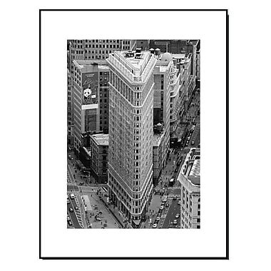 3 Panel Photo Wood Mounted New York City Flatiron Building Framed Photographic Print