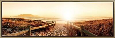 3PanelPhoto Landscape Panorama Meet Me on the Beach Framed Photographic Print