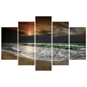 3 Panel Photo Beach at Night 5 Piece Photographic Print on Wrapped Canvas Set