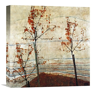 Global Gallery 'Autumn Trees 1911' by Egon Schiele Painting Print on Wrapped Canvas
