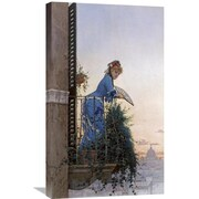 Global Gallery 'An Elegant Beauty' by Willem Johann Martens Painting Print on Wrapped Canvas