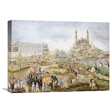 Global Gallery A Hunting Procession Painting Print on Wrapped Canvas; 21.87'' H x 30'' W x 1.5'' D