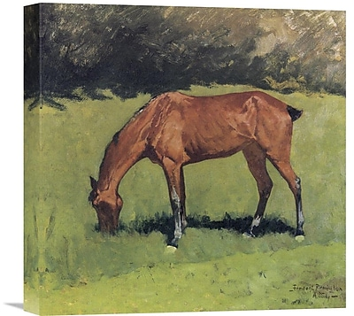 Global Gallery 'A Study' by Frederic Remington Painting Print on Wrapped Canvas