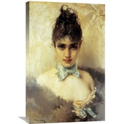 Global Gallery 'An Elegant Beauty' by Vittorio Corcos Painting Print on Wrapped Canvas