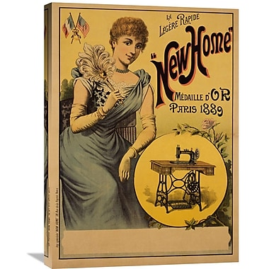 Global Gallery New Home Vintage Advertisement on Wrapped Canvas; 30'' H x 21.82'' W x 1.5'' D