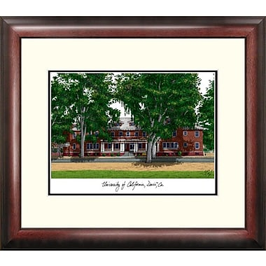 Campus Images Alumnus Lithograph Framed Photographic Print; UC Davis Aggies
