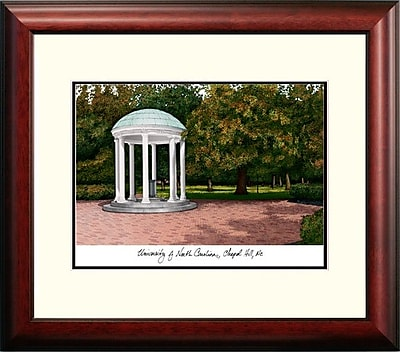 Campus Images Alumnus Lithograph Framed Photographic Print; UNC Tar Heels