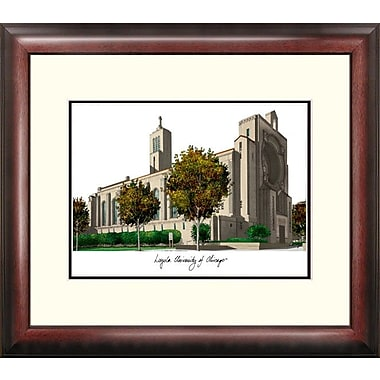 Campus Images Alumnus Lithograph Framed Photographic Print; Loyola Chicago Ramblers