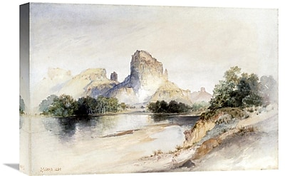 Global Gallery 'Castle Butte, Green River, Wyoming' by Thomas Moran Painting Print on Wrapped Canvas