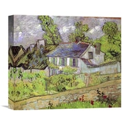 Global Gallery 'House in Auvers' by Vincent van Gogh Painting Print on Wrapped Canvas