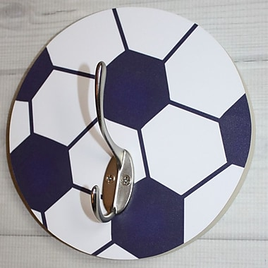 Toad and Lily Soccer Ball Kids Wall Hook