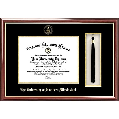 Campus Images NCAA Tassel Box and Diploma Picture Frame; Southern Mississippi Golden Eagles