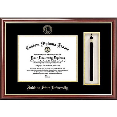 Campus Images NCAA Tassel Box and Diploma Picture Frame; Indiana State Sycamores