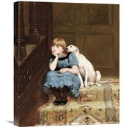 Global Gallery 'Sympathy' by Briton Riviere Painting Print on Wrapped Canvas