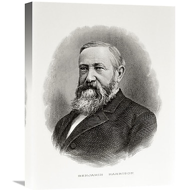 Global Gallery Benjamin Harrison Painting Print on Wrapped Canvas; 30'' H x 23.55'' W x 1.5'' D