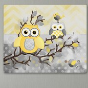 Toad and Lily Owls Graphic Art on Wrapped Canvas