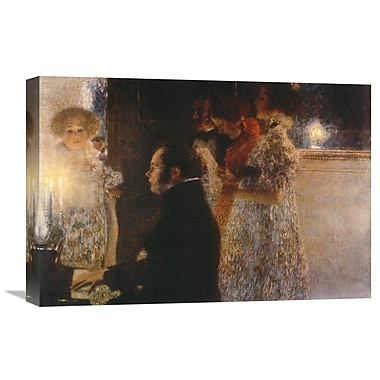 Global Gallery 'Schubert at the Piano 1899' by Gustav Klimt Painting Print on Wrapped Canvas