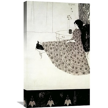 Global Gallery 'Seated Woman' by Aubrey Beardsley Painting Print on Wrapped Canvas