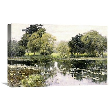 Global Gallery 'Water Lilies on a Pond' by Isaak Levitan Painting Print on Wrapped Canvas