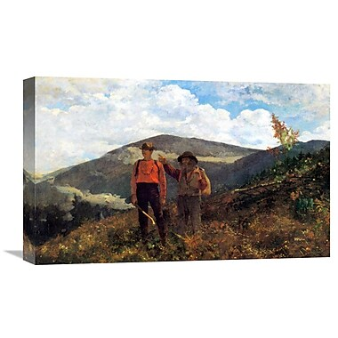 Global Gallery 'The Two Guides' by Winslow Homer Painting Print on Wrapped Canvas