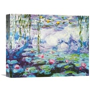 Global Gallery 'Waterlilies' by Claude Monet Painting Print on Wrapped Canvas