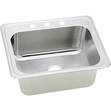 Elkay Gourmet 25'' x 22'' x 7'' Top Mount Kitchen Sink; 2 Hole