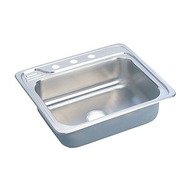 Elkay Gourmet 25'' x 22'' x 7.5'' Top Mount Kitchen Sink; 2 Hole