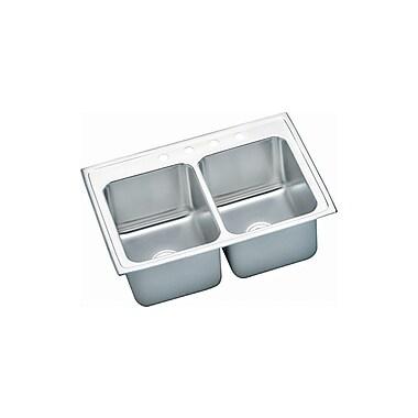 Elkay Gourmet 33'' x 22'' Top Mount Kitchen Sink; 1 Hole