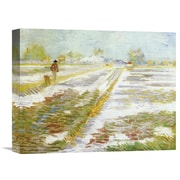 Global Gallery 'Landscape Snow' by Vincent van Gogh Painting Print on Wrapped Canvas