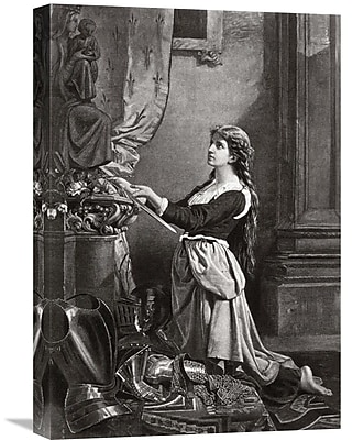 Global Gallery Joan of Arc at Prayer Painting Print on Wrapped Canvas; 30'' H x 20.76'' W x 1.5'' D