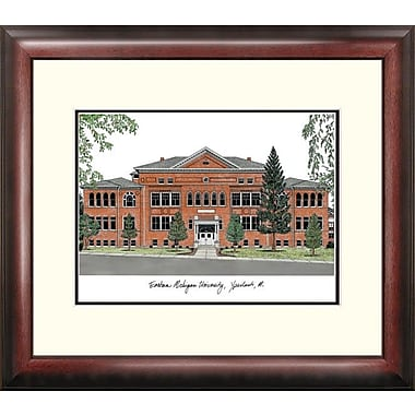 Campus Images Alumnus Lithograph Framed Photographic Print; Eastern Michigan Eagles