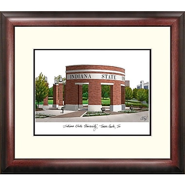 Campus Images Alumnus Lithograph Framed Photographic Print; Indiana State Sycamores