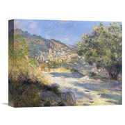 Global Gallery 'La Route De Monte-Carlo' by Claude Monet Painting Print on Wrapped Canvas