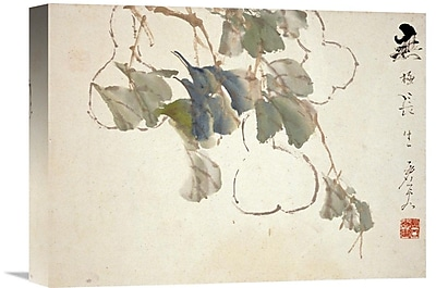 Global Gallery 'Gourds' by Xu Gu Painting Print on Wrapped Canvas; 26.64'' H x 36'' W x 1.5'' D