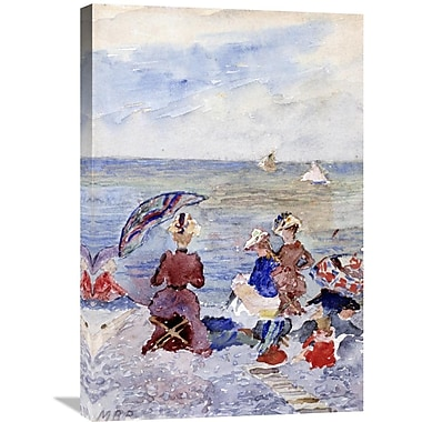 Global Gallery 'Figures on the Beach' by Maurice Brazil Prendergast Painting Print on Wrapped Canvas