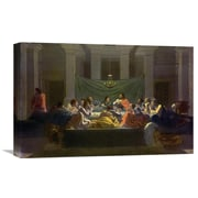 Global Gallery 'The Last Supper' by Nicolas Poussin Painting Print on Wrapped Canvas