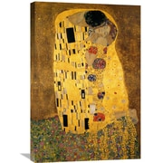 Global Gallery 'The Kiss (Detail 1)' by Gustav Klimt Painting Print on Wrapped Canvas
