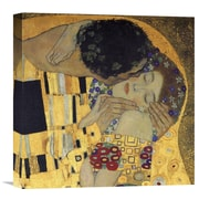 Global Gallery 'The Kiss (Detail 3)' by Gustav Klimt Painting Print on Wrapped Canvas