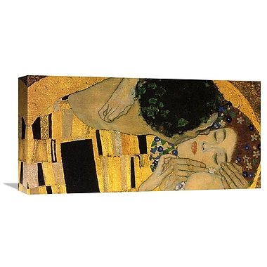 Global Gallery 'The Kiss (Detail 4)' by Gustav Klimt Painting Print on Wrapped Canvas