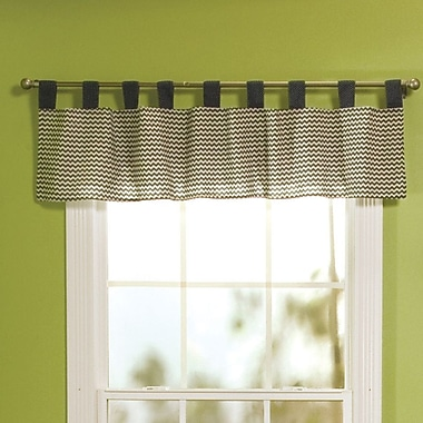 Trend Lab Perfectly Preppy Tap Top 56'' Curtain Valance