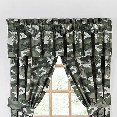 Browning Buckmark 88'' Curtain Valance; Green