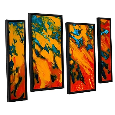 ArtWall 'Floating' by Byron May 4 Piece Framed Painting Print on Wrapped Canvas Set