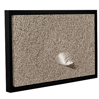 ArtWall 'Beach Find IV' by Cora Niele Framed Graphic Art on Wrapped Canvas; 16'' H x 24'' W
