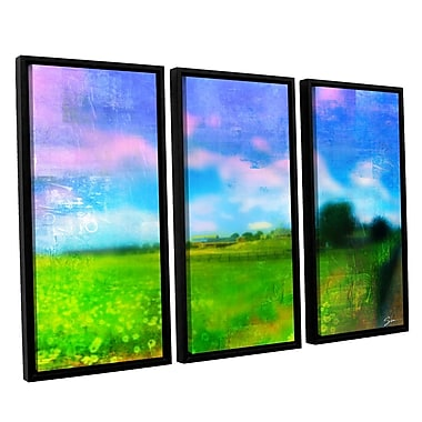 ArtWall 'Homeland' by Greg Simanson 3 Piece Framed Painting Print on Wrapped Canvas Set