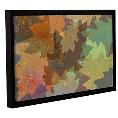 ArtWall 'American Oak Leaves' by Cora Niele Framed Graphic Art on Wrapped Canvas; 32'' H x 48'' W