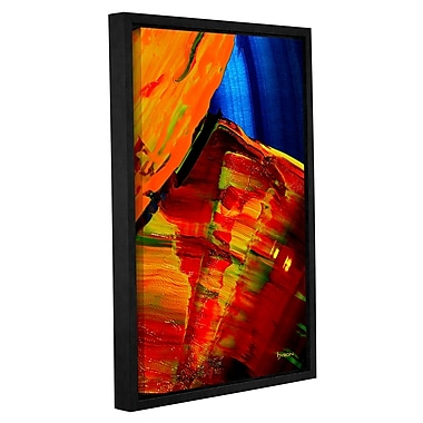 ArtWall 'Going w/ The Flow' by Byron May Framed Painting Print on Wrapped Canvas; 36'' H x 24'' W