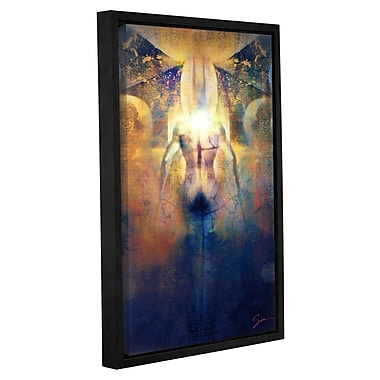 ArtWall 'Batman' by Greg Simanson Framed Graphic Art on Wrapped Canvas; 18'' H x 12'' W