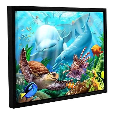 ArtWall 'Seavilian' by Jerry Lofaro Framed Graphic Art on Wrapped Canvas; 18'' H x 24'' W