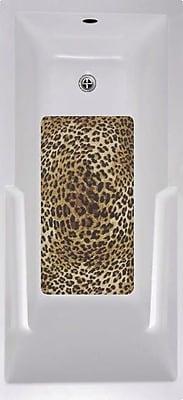 No Slip Mat by Versatraction Cheetah Bath Tub and Shower Mat