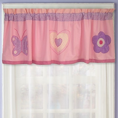 My World Spring Hearts 70'' Curtain Valance